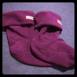 Hunter Purple Short Boot Socks